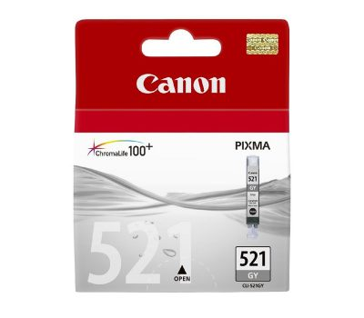 Rašalinė kasetė Canon CLI-521GY pilka