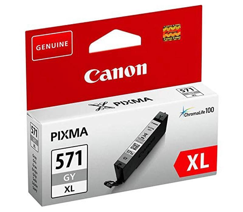 Rašalinė kasetė Canon CLI-571GYXL pilka