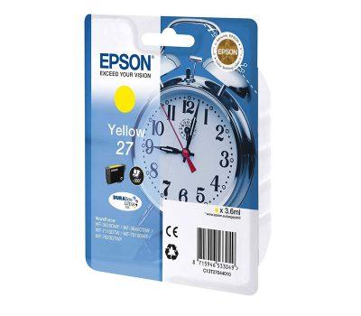 Rašalinė kasetė Epson 27 geltona