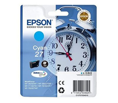 Rašalinė kasetė Epson 27 mėlyna